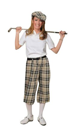 Vintage High Waisted Trousers, Sailor Pants, Jeans Womens Turnberry Plaid Golf Knickers $85.00 AT vintagedancer.com