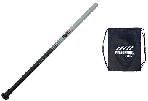 Rocket Mesh Lacrosse Nustar Carbon Fiber Lacrosse Shaft Smooth Grip Bundle With 1 Performall Sports Drawstring Bag
