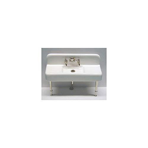 (Dollhouse Miniature 1:12 Scale Kitchen Sink, Porcelain, Assembled)