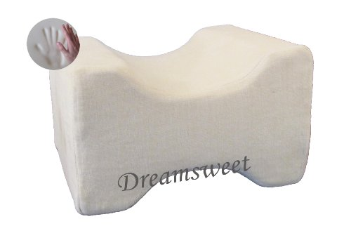 Dreamsweet Knee Hip Alignment Memory Foam Leg Pillow for Side Sleepers, Beige - by