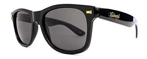 Knockaround Fort Knocks 1.0 Non-Polarized Sunglasses, Glossy Black Frame/Black - Blacked Out Sunglasses