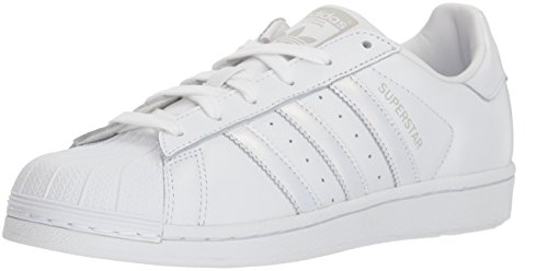adidas Originals Women's Superstar Shoes Running White/Grey, 8 M US