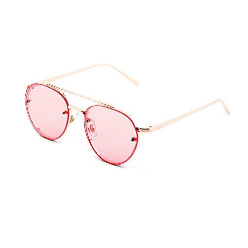 TWIG AMIS mujer Bronce hombre sol Rosa aviador gradiente de Gafas nUEaq