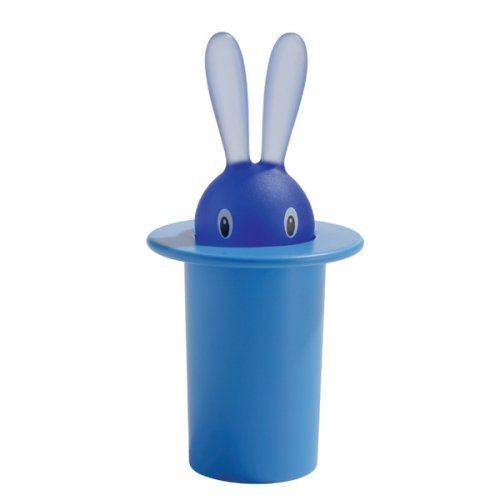 A di Alessi Magic Bunny Toothpick Holder, Blue Color: Blue Home & Kitchen