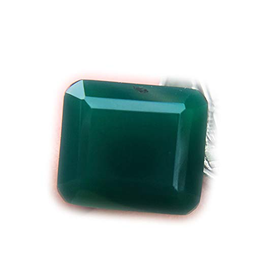 Lovemom 7.51ct Natural Octagon Unheated Green Chalcedony Africa #PU by Lovemom