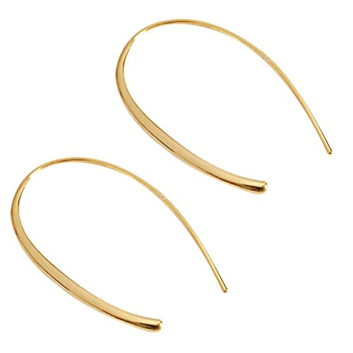 Women Girls Hoop Earrings, Classic Gold Plated 925 Sterling Silver Charms Huggie Huggy Earrings Hoops for Sensitive Ears