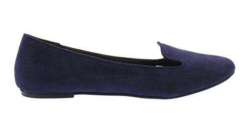 With Jasper Flat Arch On Slip Comfort Smoking Navy Gold Faux Loafer Suede Support Women's Shoes Toe qEOwp7