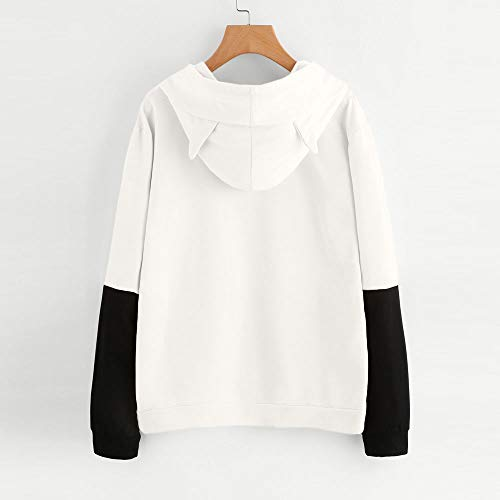 Sleeve Tops Hooded White Loose Letter Hoodie Bestow Long Blouses Sweater Crewneck Warm Print Pullover Fashion Shirt Coat Women's Sweatshirt Jacket Autumn 1qWwYFv