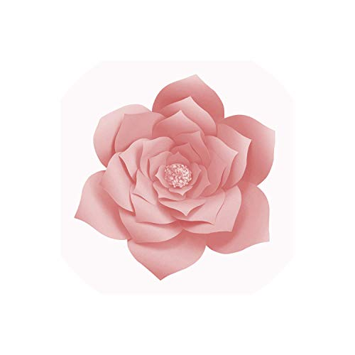 DIY Paper Flowers Wall Decorations Children Photo Background Artificial Flower for Wedding Favors and Gifts Paper Flowers,Light Pink 2pcs