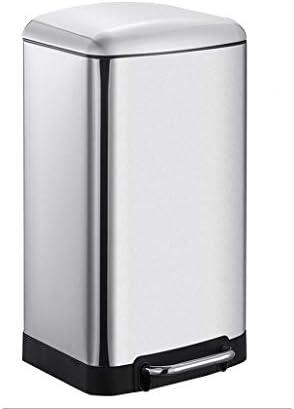 ステンレス鋼の大型ごみ箱、5.2 / 7.9 / 13.2ガロン容量、ペダルタイプでカバーゴミ箱については、ホーム、キッチンヤード、ホテル (サイズ : S)