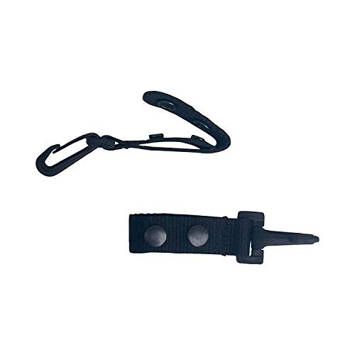 """Ewart Tactical Belt Keeper with Plastic Key Clip 2 PK - for Duty Gear Belt up to 2.25"""" - Key Holders Keep Key Ring Easily Accessible"""