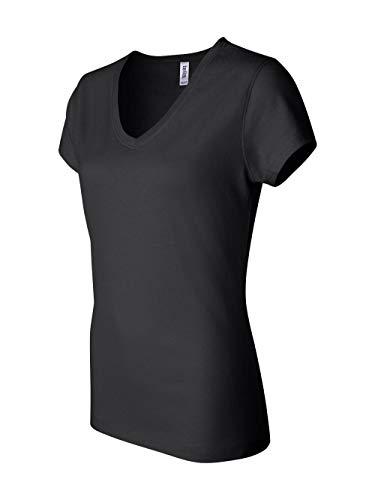 Bella Womens V-Neck T-Shirt in LG in b-BLACK