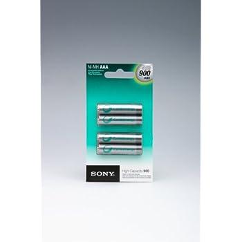 Amazon.com: Sony Rechargeable AAA 900 mAh NiMH Batteries