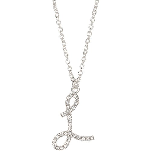 L necklace amazon heirloom finds crystal letter l initial monogram pendant necklace 18 chain plus extender aloadofball Gallery