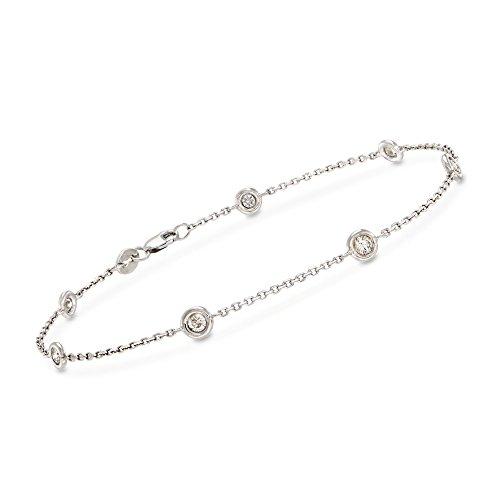 Ross-Simons 0.50 ct. t.w. Diamond Bracelet in 14kt White Gold (1/2 Ct Tw Diamond Bracelet)
