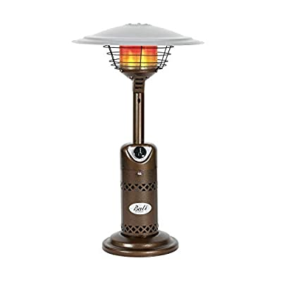 BALI OUTDOORS Patio Heater, Portable Tabletop Heater, Propane Patio Heater, 10,000 BTU with Adjustable Thermostat, Bronze, Suitable for Yard, Commercial Restaurant, Gazebo