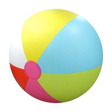 Media Sports Giant Inflatable Over 6' Feet Tall Beach Ball (Rainbow)