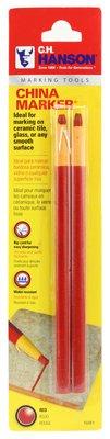F&M Tool & Plastics 211279 China Marker Pencil44; Red - Pack of 2