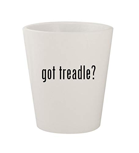 (got treadle? - Ceramic White 1.5oz Shot Glass)