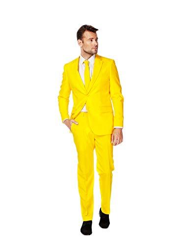 Opposuits Costumes Colorés Solides Pour Les Hommes À Venir Avec Un Pantalon, Veste Et Cravate - 100% Garantie De Remboursement Compagnon Jaune