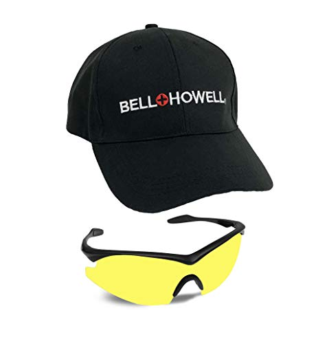 Bell + Howell NIGHT VISION GLASSES with Cap, Polarized, Unisex, Sports As Seen On TV (Adjustable Vision Glasses As Seen On Tv)
