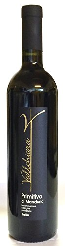PRIMITIVO di Manduria DOC 0,75L Vallchiara - trockener Rotwein - 14,5% Vol. Italien