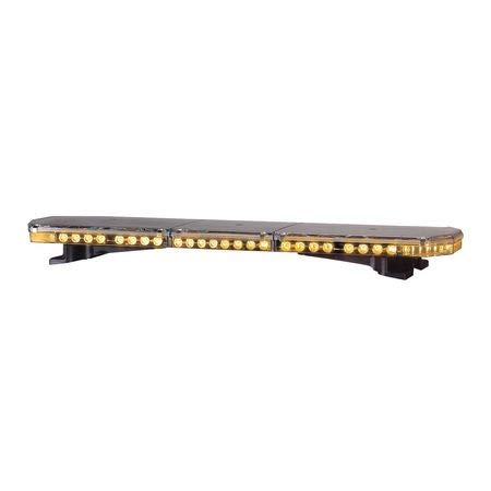 Low Pro Lightbar,LED,Amber,Perm,47 In
