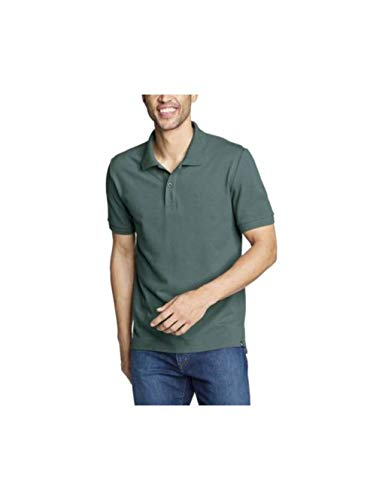 Eddie Bauer Men's Voyager 2.0 Short-Sleeve Polo Shirt - Classic Fit, Solid, Ever Eddie Bauer Short Sleeve Shirt
