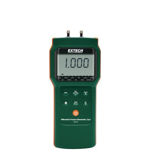 Extech PS101-NIST Differential Pressure Manometer (1psi) ...