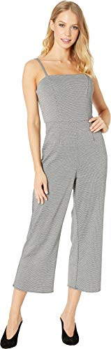 (Romeo & Juliet Couture Women's Houndstooth Jumpsuit Houndstooth Small)