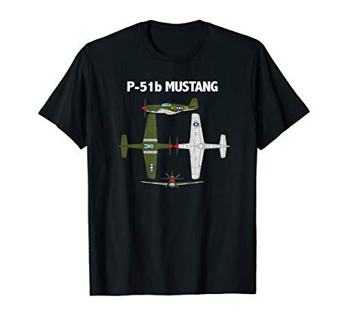 Fly P-51 Mustang - P-51 Mustang Aircraft T Shirt