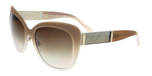 Burberry Women BE3088 57 Gold/Brown Sunglasses 57mm