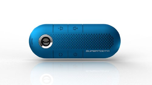SuperTooth CRYSTAL BLUE Hands-Free Wireless Bluetooth Visor Car Kit Speakerphone - Retail Packaging