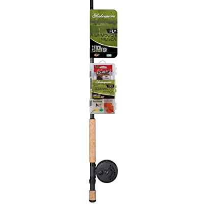 Shakespeare Catch More Fish Fly Fishing Rod and Reel Combo, 8-Feet
