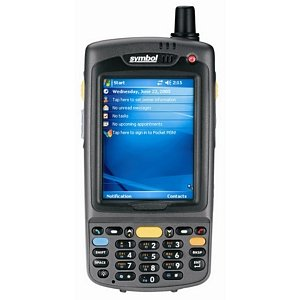 Motorola MC70 Mobile Computer - WLAN / 802.11a/b/g / GSM/EDGE/eGPRS / 1D Laser - SE950 / Generic GSM Carrier / 128MB/128MB / Numeric Keypad / Windows Mobile 5.0.0 Phone Edition / MC7094-PUCDCRHA7WR