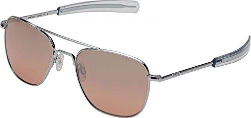 Randolph Aviator Infinity Sunglasses Bright Chrome / Bayonet / Sahara Metallic Nylon AR - Sunglasses Infinity