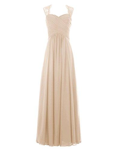 Brautjungfernkleider Abendkleider Chiffon Ballkleid A Linie Love® Ever hochzeitskleid Cocktail Damen Champagner Party lang xIApwZqf