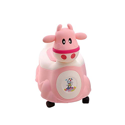 Autumn Water Baby Potty Cartoon Cute Cow Baby Toilet Seat Children's Potty Kids WC Portable Potty Chair Girls Boy Trainer Child Toilet Seat by Autumn Water