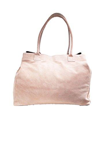 Bolso de hombro del bolso del ante de las mujeres Rosa 810