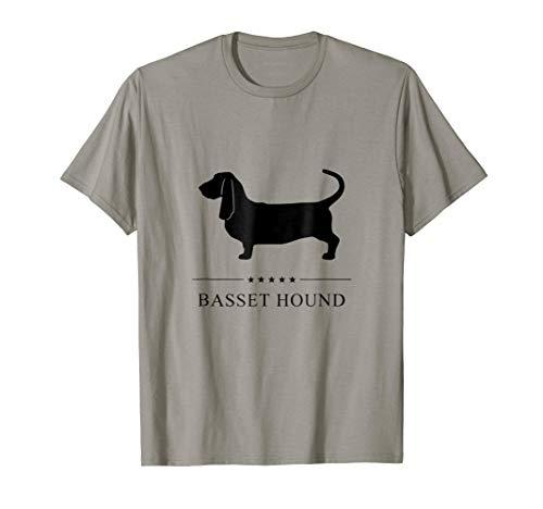 Basset Hound Shirt: Black Silhouette