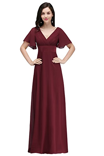 Misshow Women Plus Size Mother Of The Bride Dressburgundysize 16