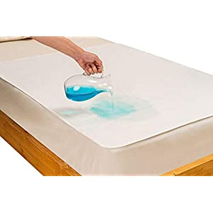 Waterproof Bed Pads by IJIN Bebe – Organic Cotton Mattress Pad for Bedwetting – Washable Sheet Protector for Cribs and Beds – Practical Straps – 2 Sizes Available – Ideal for Kids, Elderly, Pets