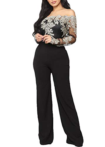 lace detail jumpsuit - 2