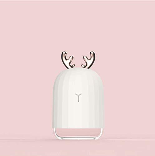 - Cool Mist Humidifier, Creative Dehumidifier Cute Deer Rabbit Desktop Mini Humidifier USB Elk Cold Fog Home Air Purifier,White