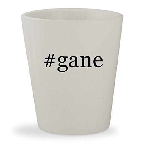 #gane - White Hashtag Ceramic 1.5oz Shot Glass