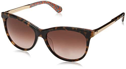 Kate Spade Women's Jizelle/s Square Sunglasses HAVANA PATTERN GREEN/BROWN GRADIENT 55 mm