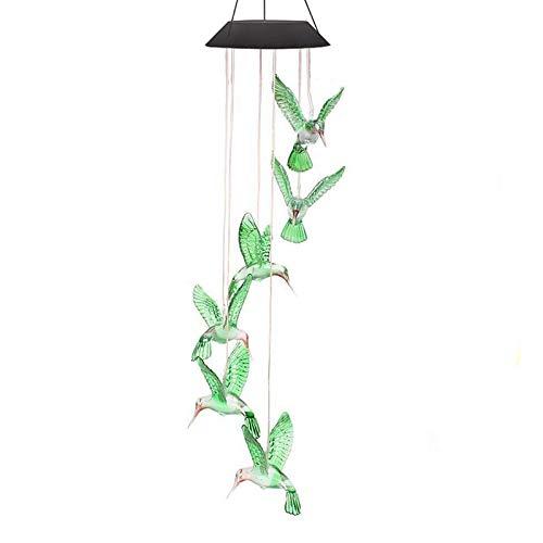 Scacciaspiriti, a energia solare, con colibrì che cambia colore, girevole Anzome