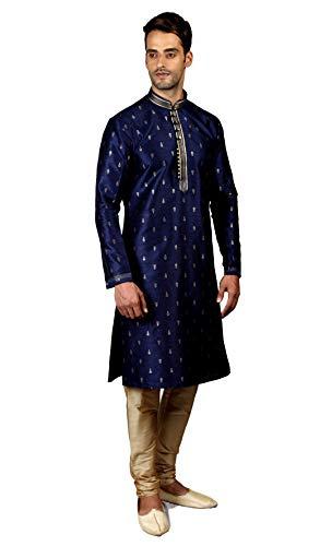 Tathastu Mens Kurta Pyjama Set 5126A Blue -38