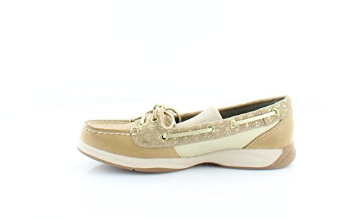 Sperry Top-sider Femmes Laguna Bateau Chaussures Lin / Sable / Or