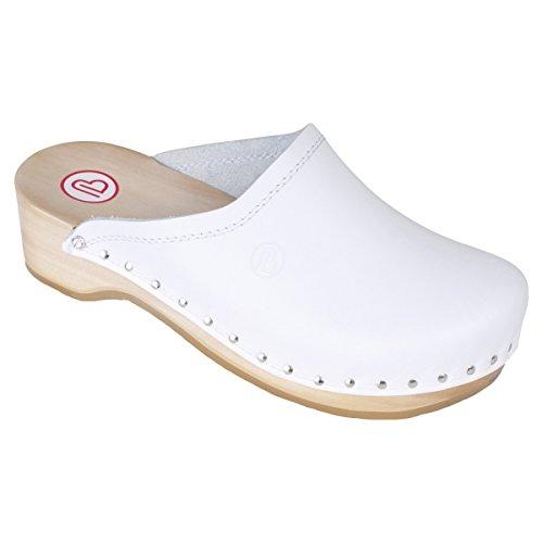 Berkemann Natur-Toeffler Unisex - Erwachsene Clogs weiß - weiß
